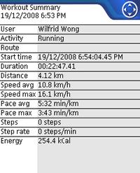 Sport Tracker Results