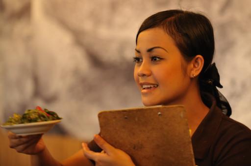 A Lovely Waitress at Bumbu Desa
