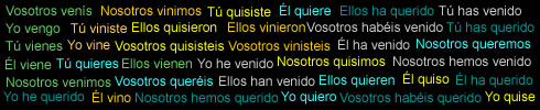 The art of Spanish conjugation
