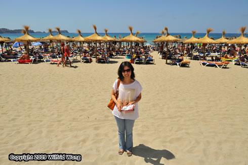 A beach at Peguera
