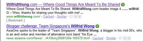 Google my own site ...